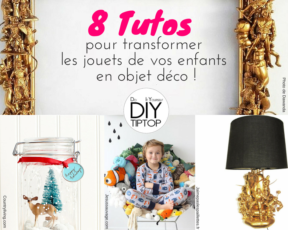 diy r cup et recyclage une d coration maison avec des jouets recycl s d i y tip top. Black Bedroom Furniture Sets. Home Design Ideas
